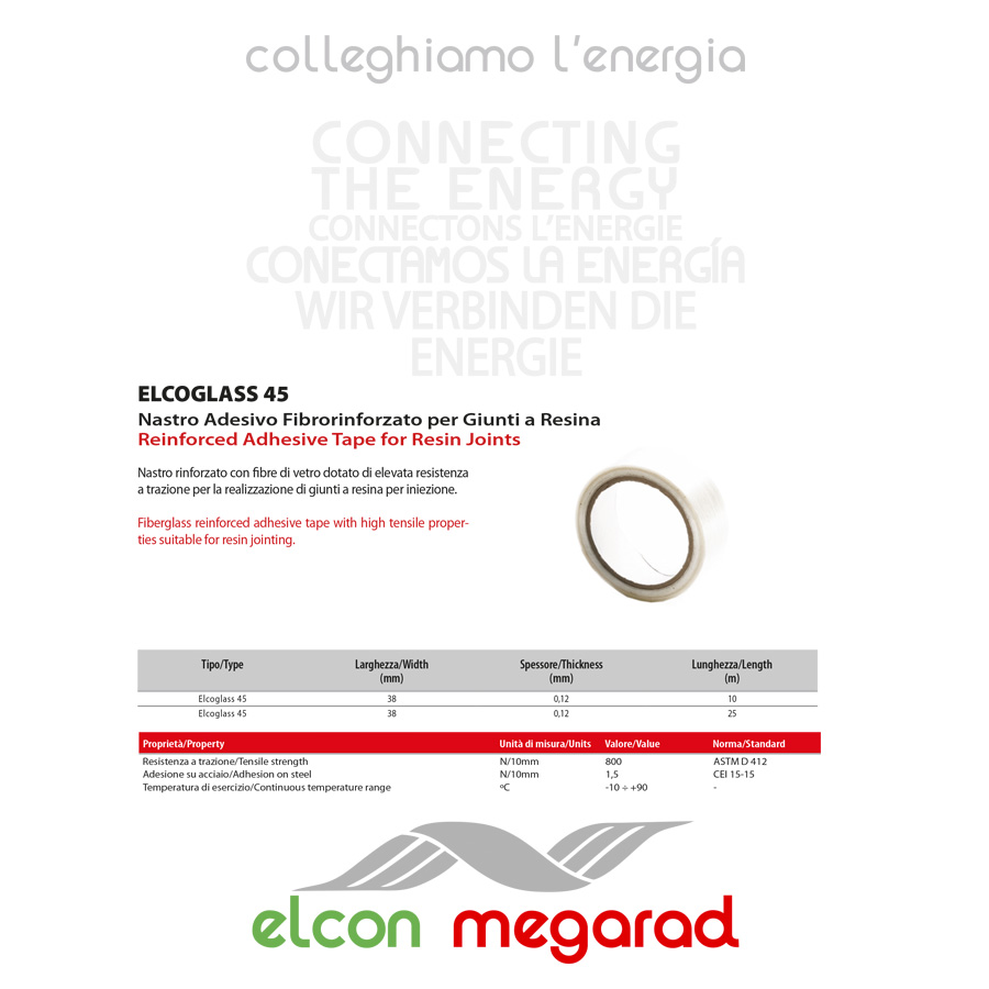 ELCOGLASS 45 – Reinforced Adhesive Tape for Resin Joints