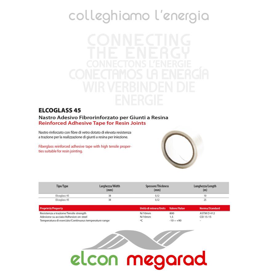 ELCOGLASS 45 – Nastro Adesivo Fibrorinforzato per Giunti a Resina